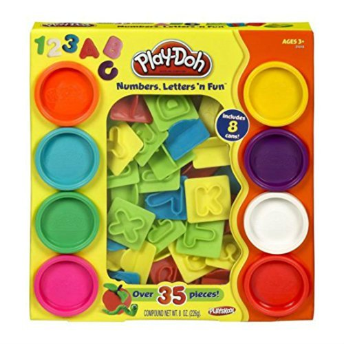 Play-Doh Numbers Letters N Fun Art Multi Kids Toddler Games Play Set Playdough (packaging may -