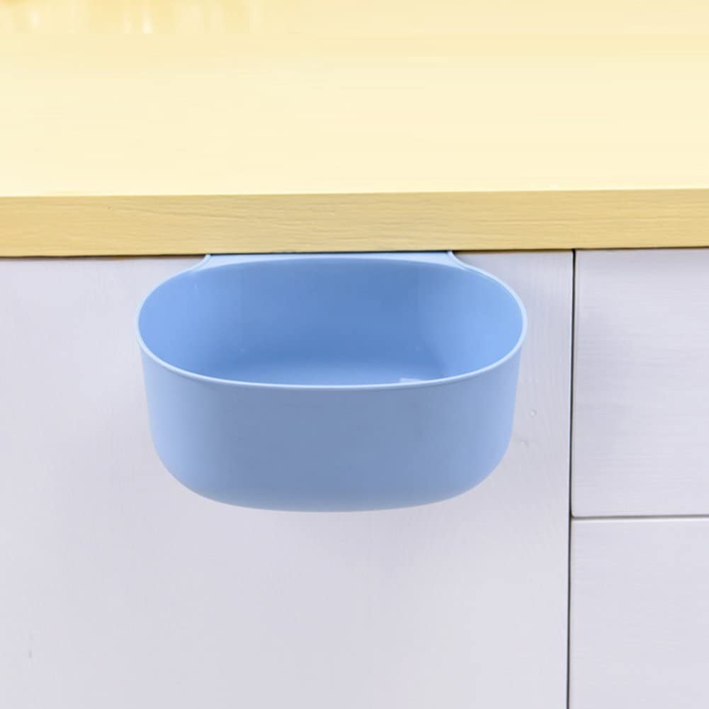 Leisial/™ Basura de Colgando Residuos Escritorio de Pl/ástico Cocina Gabinetes Basura Recipiente para Recoger Caja de Almacenamiento Sin Cobertura