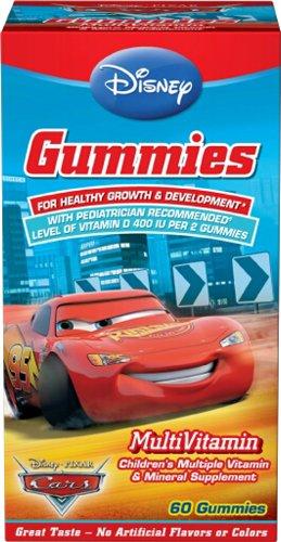 Disney Gummies multivitamines, Pixar Cars, 60 Gummies (Pack de 3)