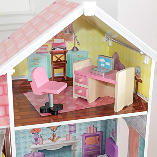 51sOl6qhpNL - KidKraft So Chic Dollhouse with Furniture