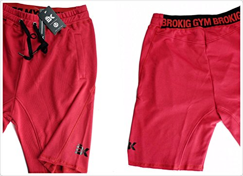 BROKIG Men's Fitted Jogging Shorts, Casual Cotton Gym Fitness Bodybuilding Active Running Short Pants