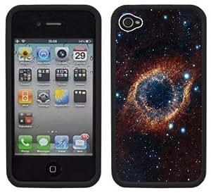 Helix Nebula Eye of God Handmade iPhone 4 4S Black Hard Plastic Case by icecream design