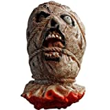 BestOfferBuy Life Size Severed Bloody Dead Man Ghost Head Rope Eye Halloween Prop