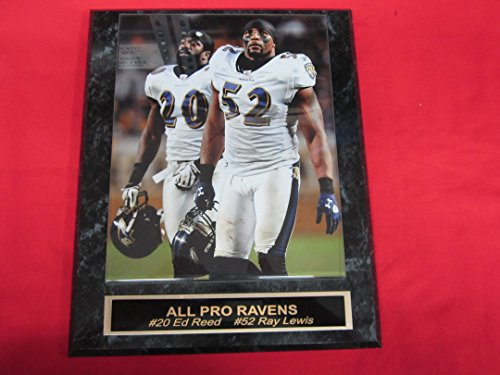 (Ed Reed Ray Lewis Baltimore Ravens Collector Plaque w/8x10 Color Photo)