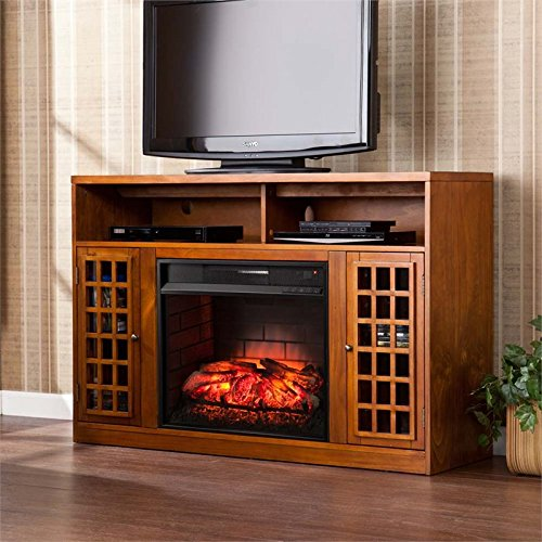 Southern Enterprises Narita Infrared Electric Media Fireplace