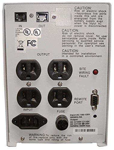 Powercom Smart King 600VA Backup UPS / Power Supply w/ Hot-Swappable Battery, SMK-600A, Retail