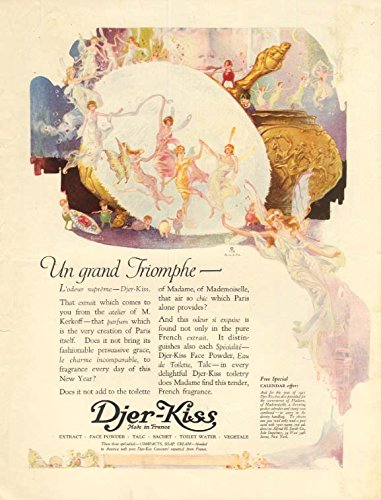 Djer Kiss - Un grand Triomphe Djer-Kiss Perfume ad 1921 by C F Neagle