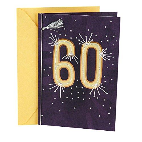 Hallmark 60th Birthday Card (Silver Tassel)