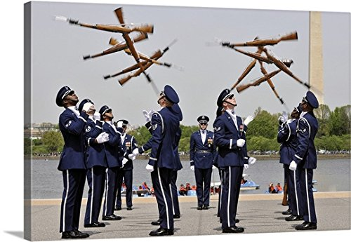 United States Air Force Honor Guard - greatBIGcanvas Gallery-Wrapped Canvas entitled The United States Air Force Honor Guard Drill Team by Stocktrek Images 48