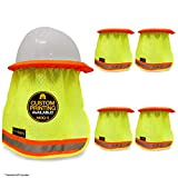 KwikSafety VADER | 5 Pack Hard Hat Sun Shade | High Visibility Mesh Contrasting Trim Reflective Strip | Elastic Full & Regular Brim Neck Protection | Construction Helmet Sun Shield Cooling Device