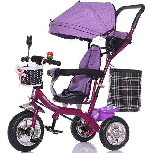 Carro Triciclo Multifuncional para niños 1-3 - 5 años de Edad Bicicleta Bebé Bicicleta Bebé Coche (Color : B)