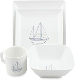 Norestar Melamine Galleyware Nautical Boat Dish Set Bowls Plates Mugs (16 Piece  sc 1 st  Amazon.com : yacht dinnerware - Pezcame.Com