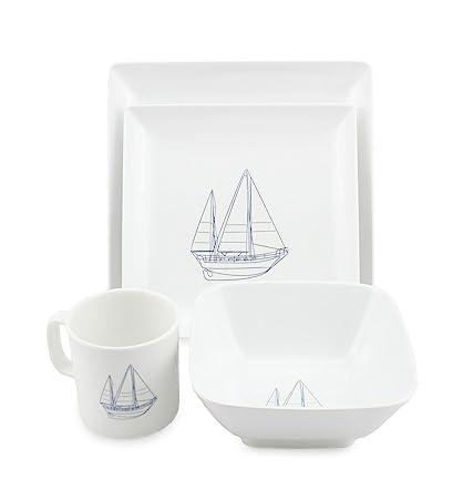Amazon.com: Norestar Melamine Galleyware Nautical Boat Dish Set ...
