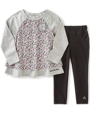 Baby Girls' Printed Tunic with Jeggings Set