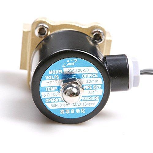 Válvula de solenoide de aceite eDealMax 2W-200-20 de acción directa 3/4 DC 12V Agua: Amazon.com: Industrial & Scientific
