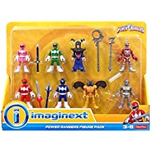 Fisher-Price Imaginext Power Rangers Figures 7 pack with Green, Pink, Red and Blue Rangers Plus Villains Goldar, Lord Zedd, Rita Repulsa and a Putty fighter
