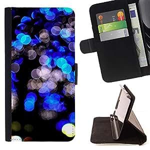 Negro Bright Lights vibrante Night City- Modelo colorido cuero de la carpeta del tirón del caso cubierta piel Holster Funda protecció Para Apple Apple iPhone 4 / iPhone 4S