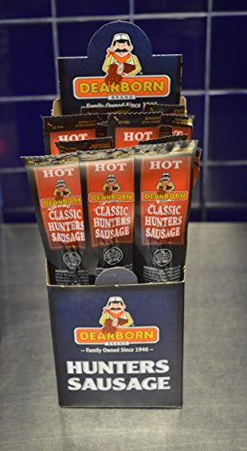 Hot Dog Jerky (Dearborn Brand - A Family Business over 70 years, offers their Classic Hunter Hot Sausage 24 - 1oz units.)