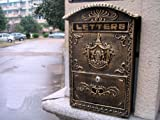 Victorian Style Wall Mounted Cast Iron Mailboxes Weight 12lb (Antique Bronze Aristocracy)