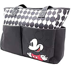 Disney Mickey Oval Dots Double Front Pocket Tote Diaper Bag