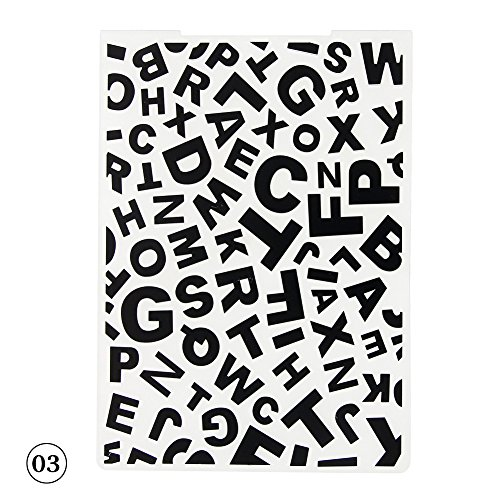YOUNGFLY English Letters Pattern Plastic Embossing Folders for DIY Craft Scrapbooking Paper Card Making Decor 03
