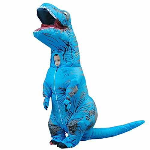 Inflatable Halloween Tyrannosaurus Dinosaur T-REX Fancy Dress Blow Up Party Cosplay Costumes For Adult (Mini T Rex Costume)