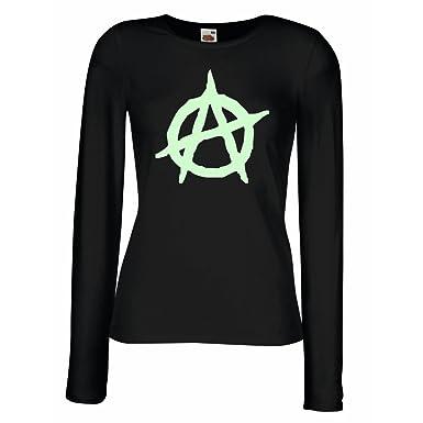 T Shirt Women Anarchist Symbol Anarchism Political Design Anarchy