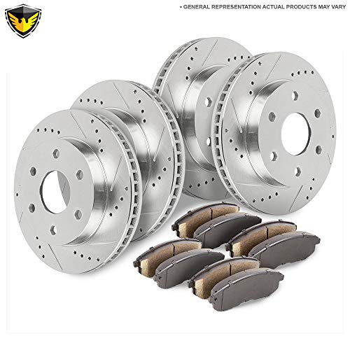 Front Rear Brake Pads And Rotors Kit For Chevy Uplander Buick Terraza Pontiac Montana SV6 Saturn Relay 2WD Minivans - Duralo 153-1653 New ()