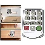 Electronic Cabinet Lock Set, Intelligent Digit Keypad Password Door Code Locks Keyless Locker Safety Security Lock Drawer