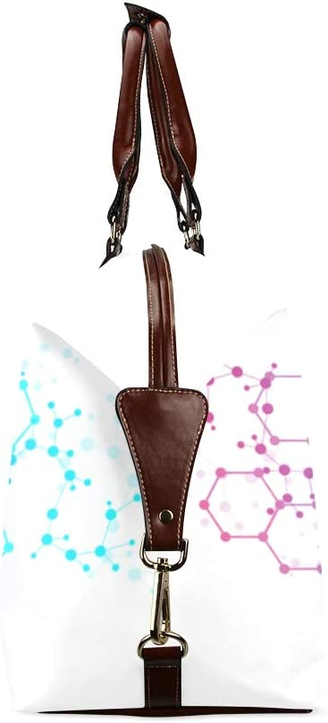 Mens Bag Travel Dna Molecular Map Classic Oversized Waterproof Pu Leather Handbag Men Mens Bags Travel