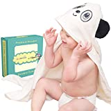 Hooded Baby Towel and Washcloth Set | Extra Soft Baby Bath Towel For Infant and Toddler | Large Size Animal Design Towel With Hood