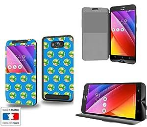 Life Up ! Collection Pattern Funda de Cuero para Asus Zenfone Max ZC550KL Flip Case Cover (Estuche) - FUNDA SOPORTE / PU Cuero - Accesorios Case Industry Smart Magnet