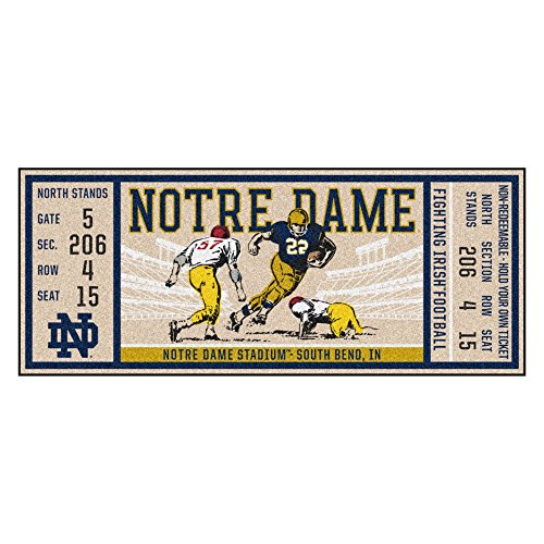 Notre Dame Fighting Irish Tickets - FANMATS NCAA Notre Dame Fighting Irish Dameticket Runner, Team Color, One Size