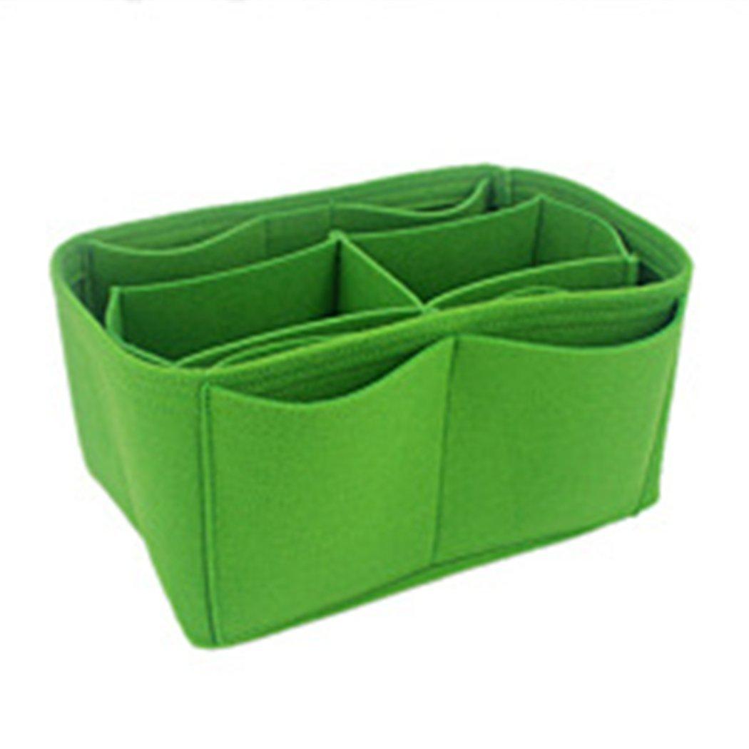 Green AMASSANPortable Multifunction Purse Organizers Insert Handbag Organizer Bag in Bag