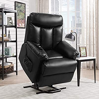 Domesis Renu Leather Power Lift Chair Recliner, Brown