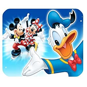 Fantastic Cartoon Daisy Duck Customized Standard Rectangle Black Mouse Pad Mat