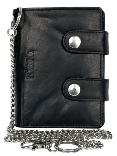 Men's Biker's Wallet Kabana with 45 Cm Long Metal Chain to ()