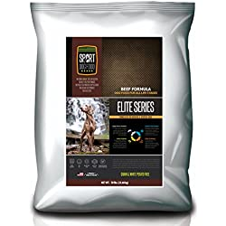 SportDogFood Elite Grain Free Dog Food, Beef Formula, 50-Pound