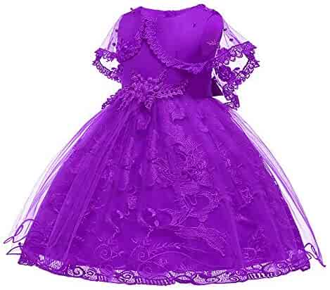 BBTshop Girl Dress Lace Bowknot Princess Performance Bridesmaid Tutu Dress Pageant Gown Outfit Birthday Wedding Party Dresses Skirt Kid Autumn Winter Print Shirt Headband Tunic Shirt Sweater Dress