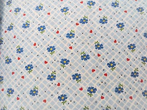 Blue Plaid Windham Fabrics Sugar Sack Floral Cotton Fabric