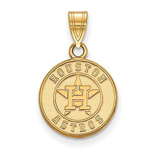Q Gold MLB Houston Astros 10ky MLB LogoArt Houston Astros Small Pendant Size One ()