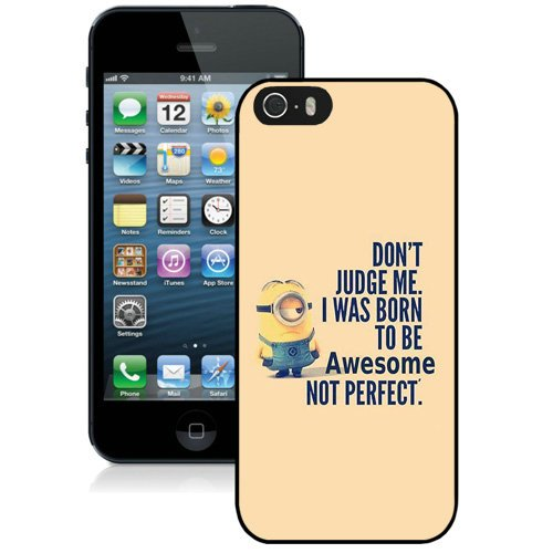 Coque,Fashion Coque iphone 5S I Was Born To Be Awsome Noir Screen Cover Case Cover Fashion and Hot Sale Design