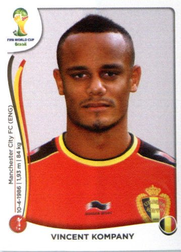 2014 Panini World Cup Soccer Sticker #567 Vincent Kompany Mint (567 Stickers)