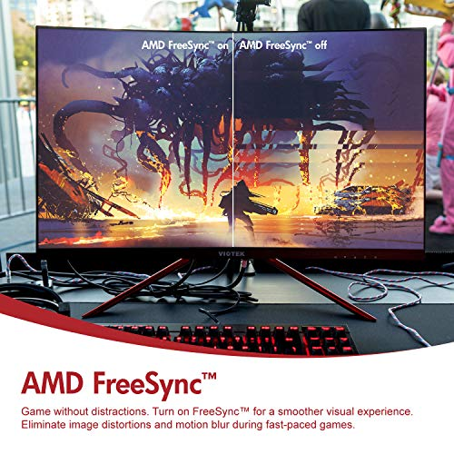 FPS RTS Optimized VIOTEK Curved Computer Gaming Monitor (27