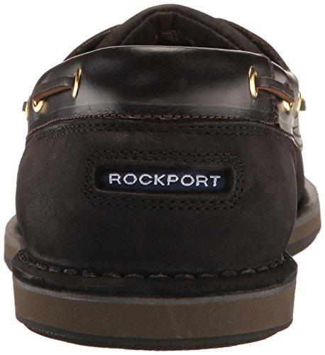 Rockport Mens Porti Di Scalo Perth Cioccolato / Corteccia Scarpa Da Barca Nero / Corteccia