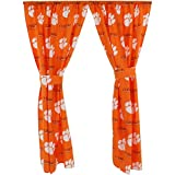 College Covers Clemson Tigers Printed Curtain Panels 42'' x 84''
