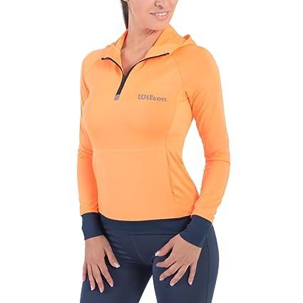 Wilson Chamarra Running 3 Color Naranja Talla CH  Amazon.com.mx ... 30109cb500be