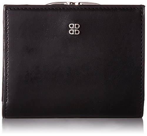 Bosca Old Leather Women's Petite French Purse (One Size, Black) by Bosca