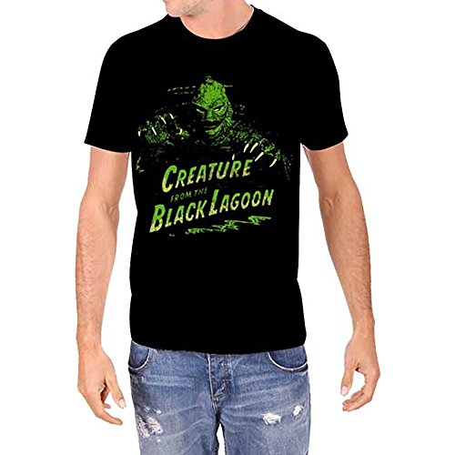 Universal Monsters Creature from The Black Lagoon Men's Black T-Shirt -