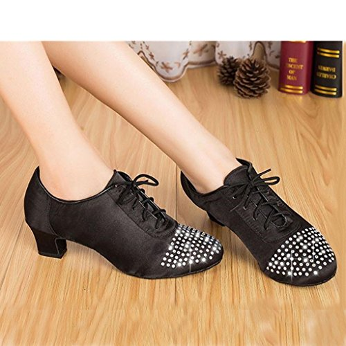 up Latin Salsa Dance Monie Crystal Ballroom Fashionable Women's Tango Lace Shoes BnnAO1S
